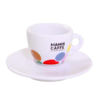 Mami's caffé šálek na espresso - barevný