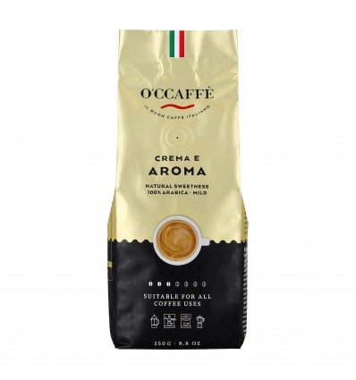 Zrnková káva O'ccaffé Crema e Aroma 250 g