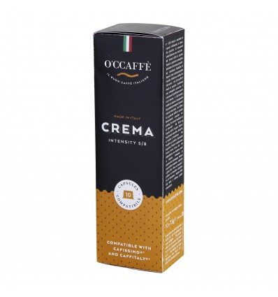 Kapsle O'ccaffé Caffitaly Crema, 10ks