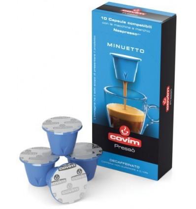 Kapsle pro Nespresso Covim Minuetto bezkofeinové 10 porcí