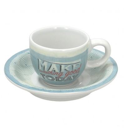 Tognana Old America šálek na espresso 6 ks - modrý