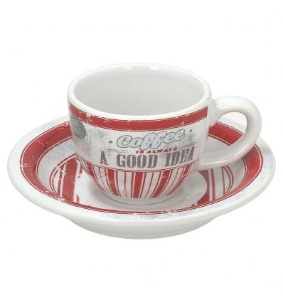 Tognana Old America šálek na espresso 6 ks - červený